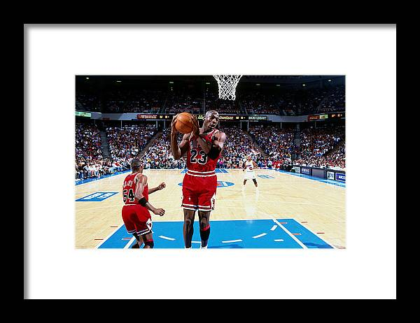 Chicago Bulls Framed Print featuring the photograph Horace Grant and Michael Jordan by Brian Drake