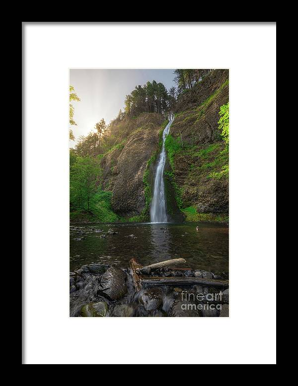 Horsetail Falls Framed Print featuring the photograph Horsetail Falls by Michael Ver Sprill