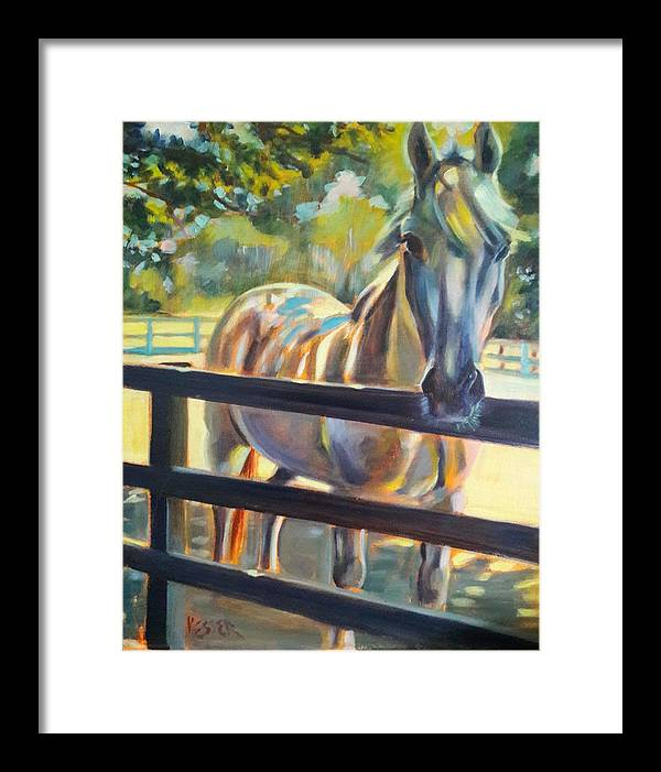 Framed Print featuring the painting Hot and Humid by Kaytee Esser