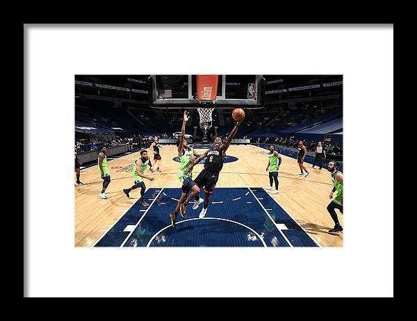 Nba Pro Basketball Framed Print featuring the photograph Houston Rockets v Minnesota Timberwolves by David Sherman