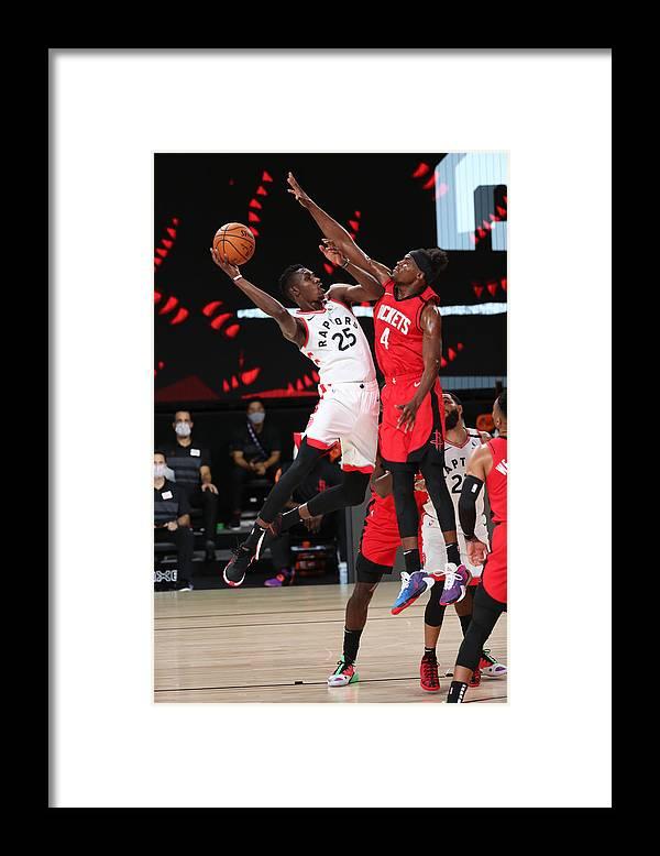 Nba Pro Basketball Framed Print featuring the photograph Houston Rockets v Toronto Raptors by Joe Murphy