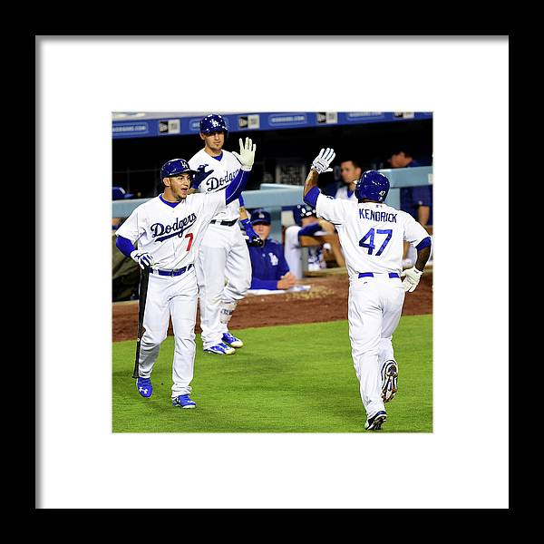 People Framed Print featuring the photograph Howie Kendrick by Harry How