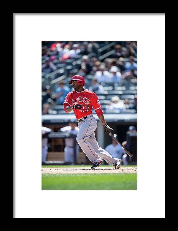 American League Baseball Framed Print featuring the photograph Howie Kendrick by Rob Tringali