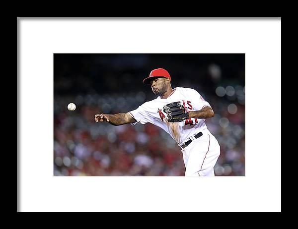 Ninth Inning Framed Print featuring the photograph Howie Kendrick by Stephen Dunn
