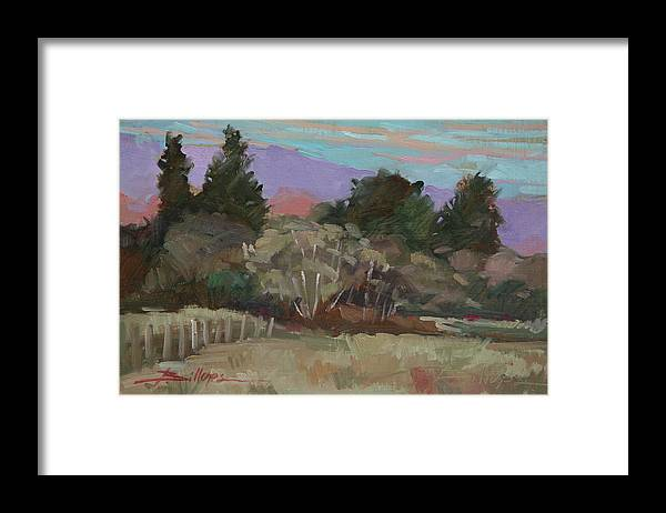 Northern California Framed Print featuring the painting Humbolt Fields by Betty Jean Billups