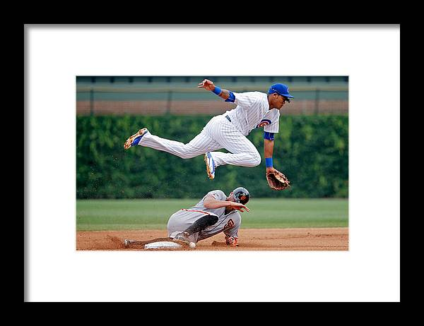 People Framed Print featuring the photograph Hunter Pence and Addison Russell by Jon Durr