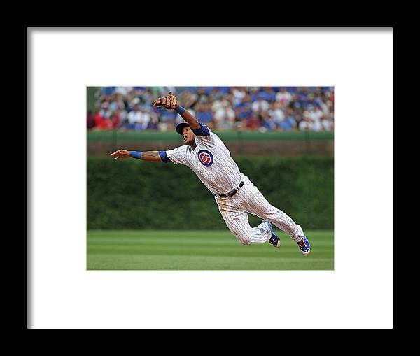 People Framed Print featuring the photograph Hunter Pence and Addison Russell by Jonathan Daniel