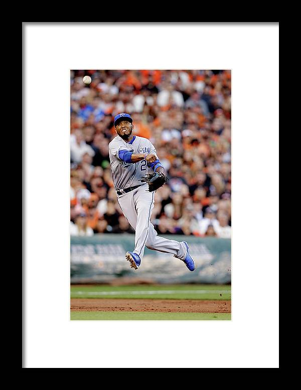 San Francisco Framed Print featuring the photograph Hunter Pence and Alcides Escobar by Ezra Shaw