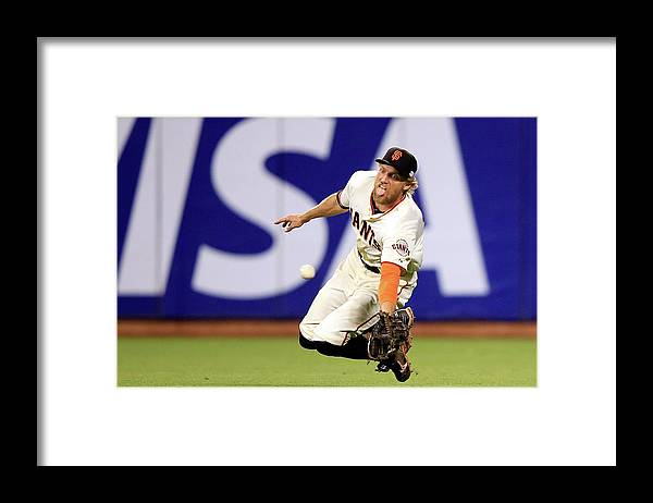 San Francisco Framed Print featuring the photograph Hunter Pence and Lorenzo Cain by Jamie Squire