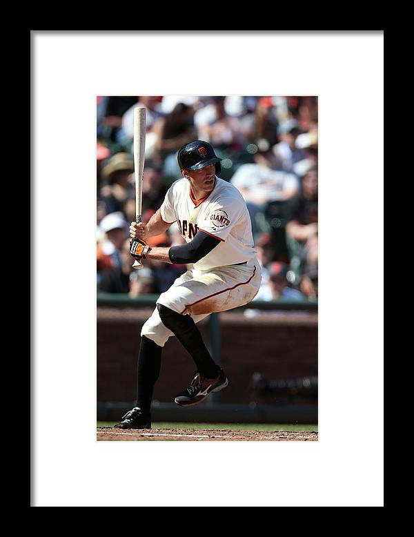 San Francisco Framed Print featuring the photograph Hunter Pence by Brad Mangin
