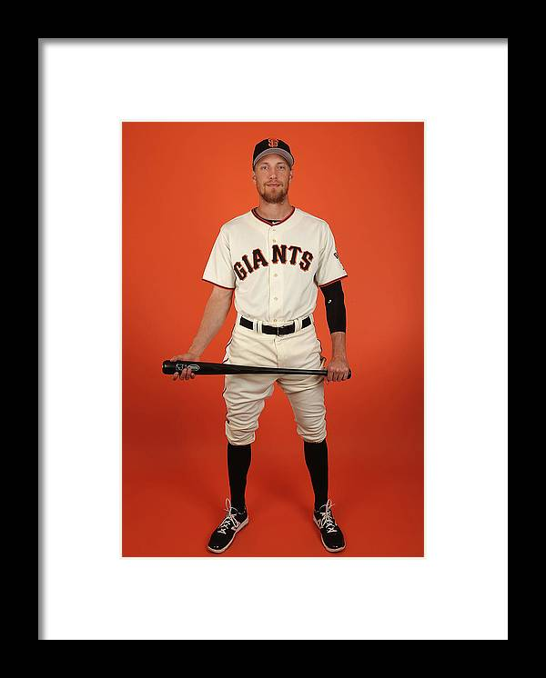 Media Day Framed Print featuring the photograph Hunter Pence by Christian Petersen