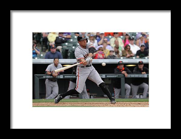 National League Baseball Framed Print featuring the photograph Hunter Pence by Doug Pensinger