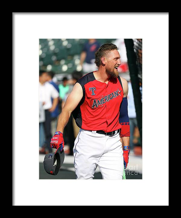 Three Quarter Length Framed Print featuring the photograph Hunter Pence by Gregory Shamus