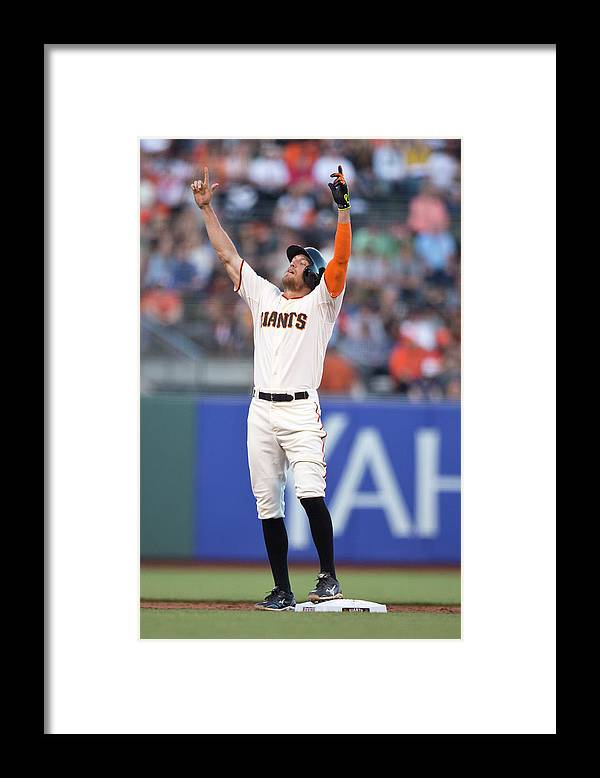 San Francisco Framed Print featuring the photograph Hunter Pence by Jason O. Watson