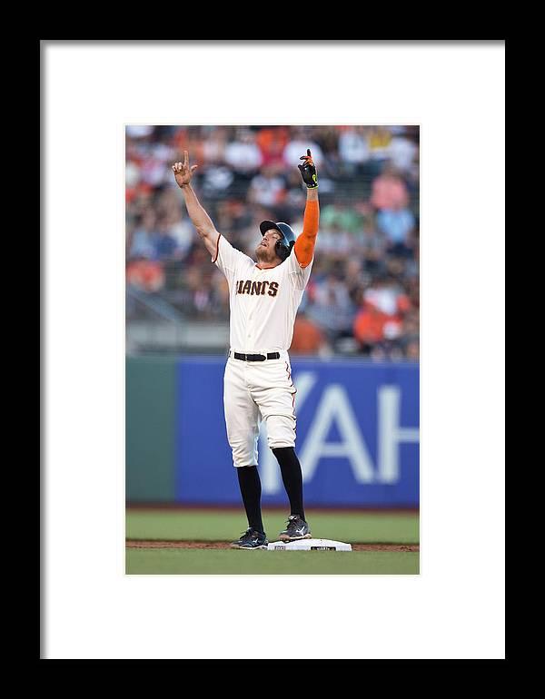 San Francisco Framed Print featuring the photograph Hunter Pence by Jason O. Watson