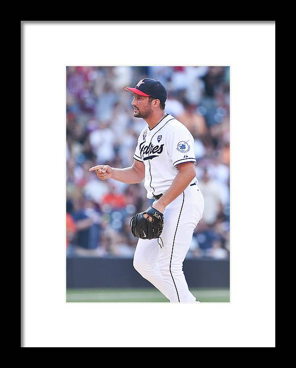 Ninth Inning Framed Print featuring the photograph Huston Street by Denis Poroy