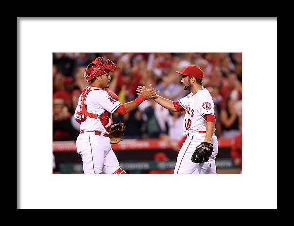 Baseball Catcher Framed Print featuring the photograph Huston Street by Stephen Dunn