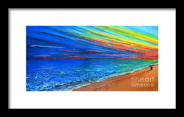 Art Framed Print featuring the painting I Am Not Alone by Patricia Awapara