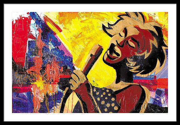 Everett Spruill Framed Print featuring the painting I Sings Da Blues by Everett Spruill