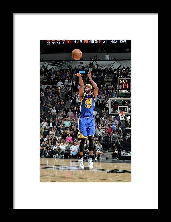 Nba Pro Basketball Framed Print featuring the photograph Ian Clark by Mark Sobhani