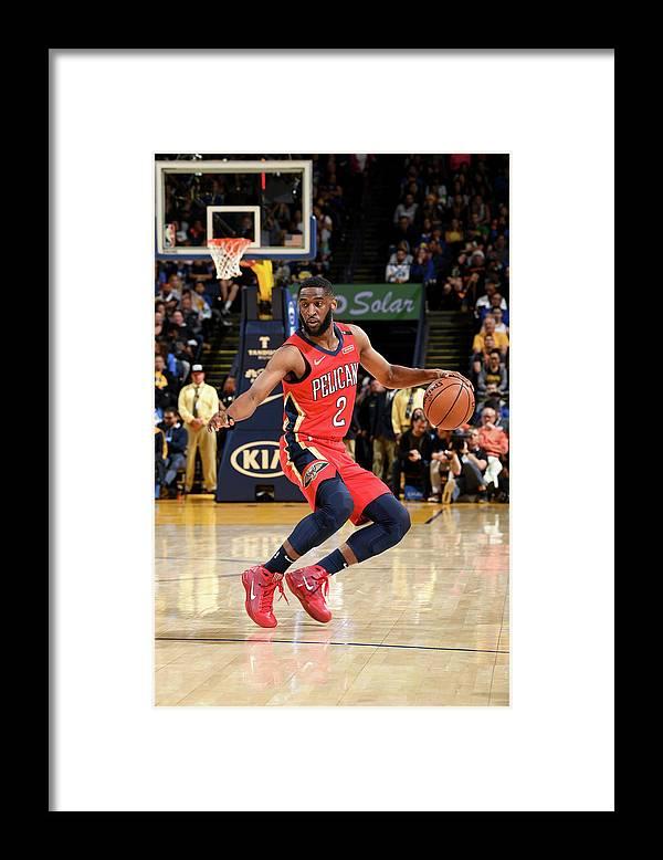 Nba Pro Basketball Framed Print featuring the photograph Ian Clark by Noah Graham