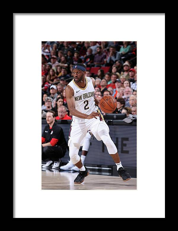 Nba Pro Basketball Framed Print featuring the photograph Ian Clark by Sam Forencich