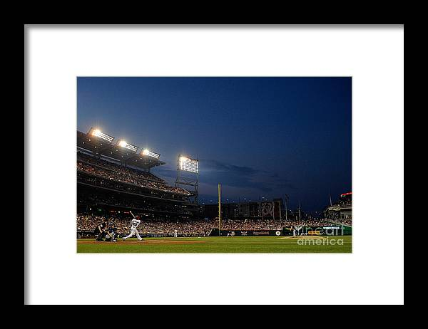 American League Baseball Framed Print featuring the photograph Ian Desmond by Patrick Mcdermott