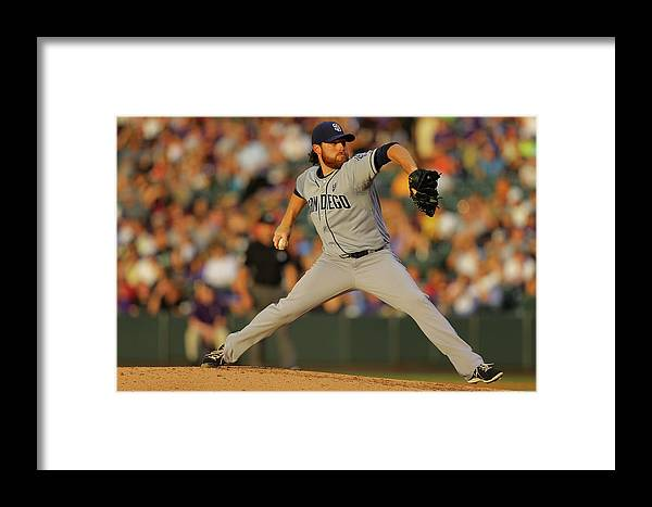 Home Base Framed Print featuring the photograph Ian Kennedy by Justin Edmonds