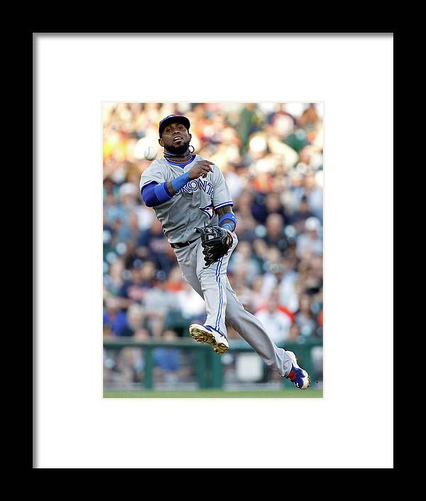 American League Baseball Framed Print featuring the photograph Ian Kinsler And Jose Reyes by Duane Burleson