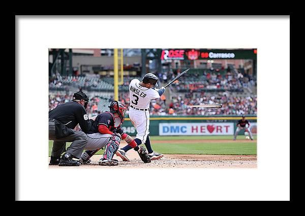 American League Baseball Framed Print featuring the photograph Ian Kinsler by Leon Halip