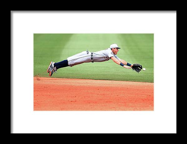 People Framed Print featuring the photograph Ian Kinsler by Stacy Revere