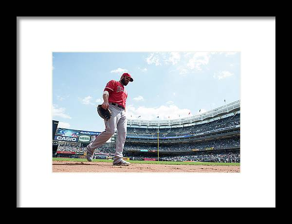 American League Baseball Framed Print featuring the photograph Ian Stewart by Rob Tringali