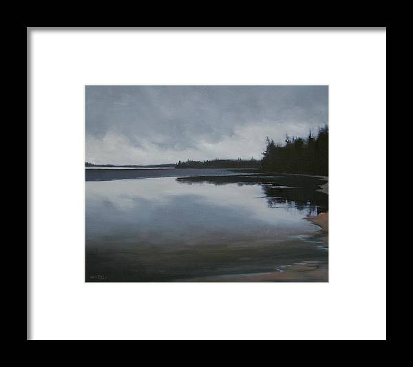 Framed Print featuring the painting Ice Out by Mary Jo Van Dell