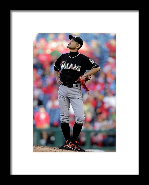 People Framed Print featuring the photograph Ichiro Suzuki by Adam Hunger