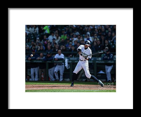 People Framed Print featuring the photograph Ichiro Suzuki and Cap Anson by Lindsey Wasson