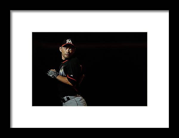 People Framed Print featuring the photograph Ichiro Suzuki by Christian Petersen