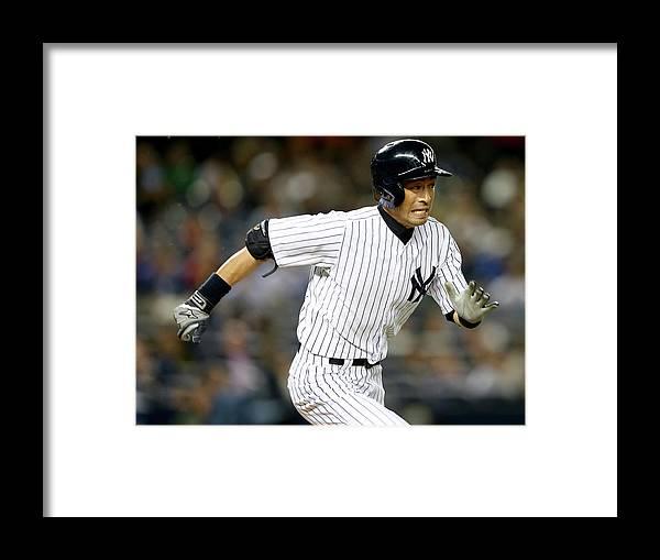 American League Baseball Framed Print featuring the photograph Ichiro Suzuki by Elsa