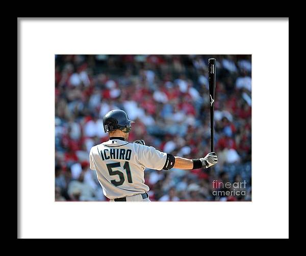 American League Baseball Framed Print featuring the photograph Ichiro Suzuki by Harry How