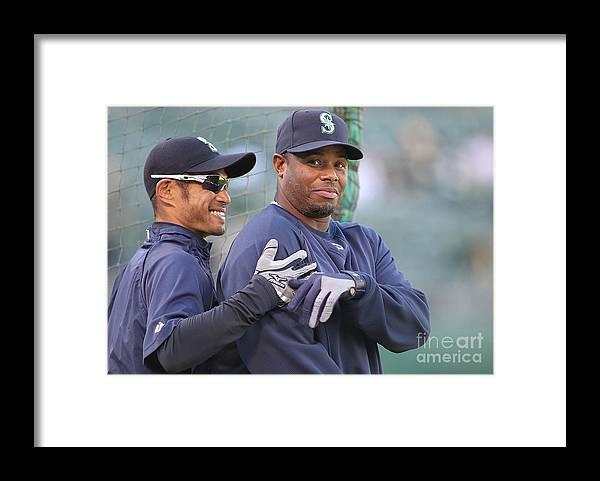 American League Baseball Framed Print featuring the photograph Ichiro Suzuki by Jed Jacobsohn