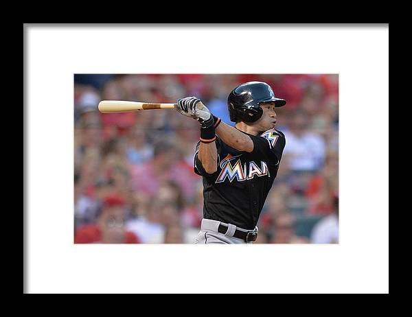 St. Louis Cardinals Framed Print featuring the photograph Ichiro Suzuki by Michael Thomas