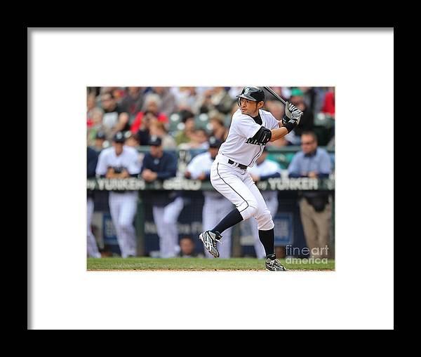 American League Baseball Framed Print featuring the photograph Ichiro Suzuki by Otto Greule Jr
