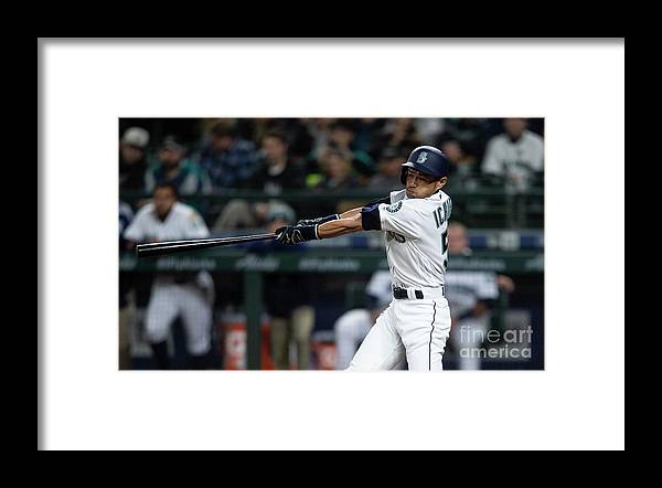 Three Quarter Length Framed Print featuring the photograph Ichiro Suzuki by Stephen Brashear