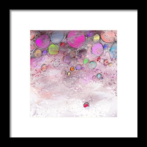 Abstract Framed Print featuring the digital art In a world alone by William Russell Nowicki