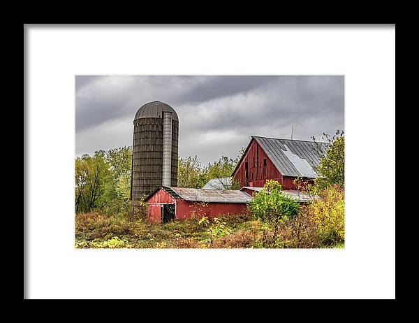 Landscape Framed Print featuring the photograph Indiana Barn #108 by Scott Smith