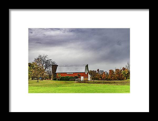 Landscape Framed Print featuring the photograph Indiana Barn #112 by Scott Smith