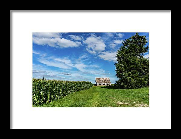 Landscape Framed Print featuring the photograph Indiana Barn #189 by Scott Smith