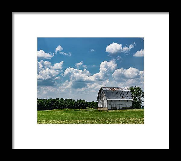 Barn Framed Print featuring the photograph Indiana Barn, #5 by Scott Smith