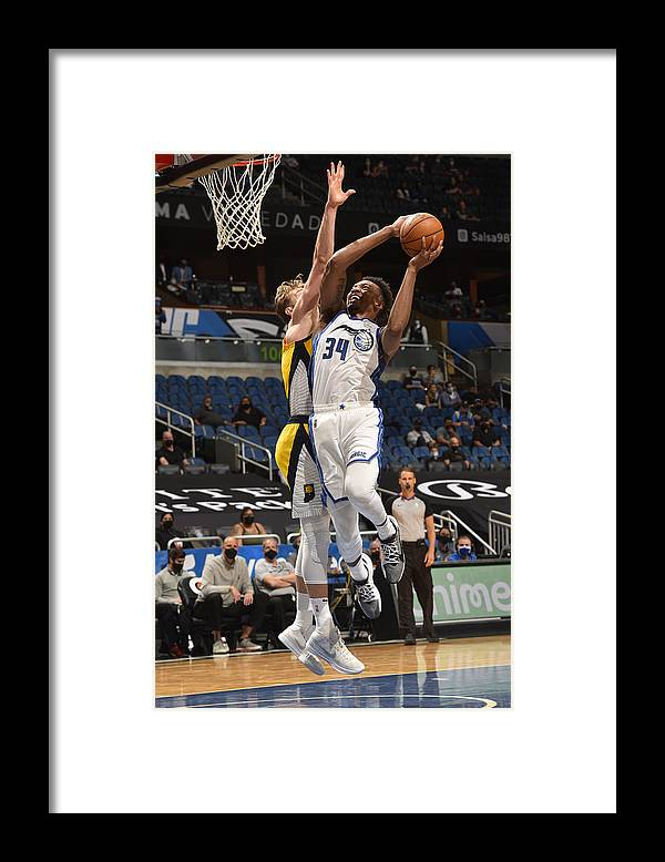 Nba Pro Basketball Framed Print featuring the photograph Indiana Pacers v Orlando Magic by Gary Bassing