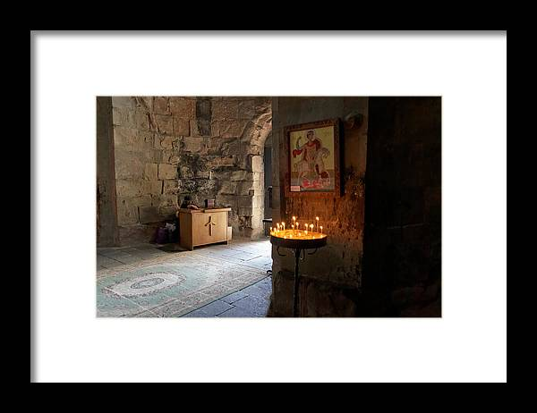 Art Framed Print featuring the photograph Inside the Jvari Church, Mtskheta by Vyacheslav Argenberg
