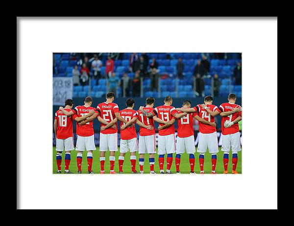 Athlete Framed Print featuring the photograph International friendlies: Russia vs France by Peter Kovalev